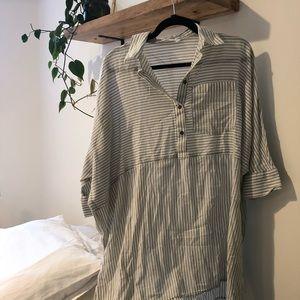 {zara} pin stripe shirt dress